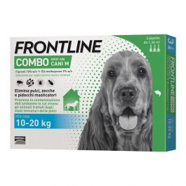 Frontline Combo Spot-On cane medio 10-20 kg 3 pipette
