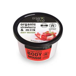 Organic Sho Body Mousse Yogurt alla Fragola 250 ml