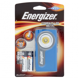Energizer Compact LED Metal 1 Light + 2 AA Alkaline Batteries