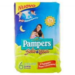 Pampers Sole e Luna Extra (15-30kg) Large 13 Pannolini