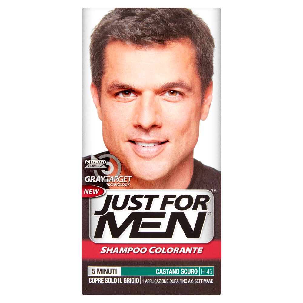 Just For Men Shampoo Colorante Castano Scuro H-45