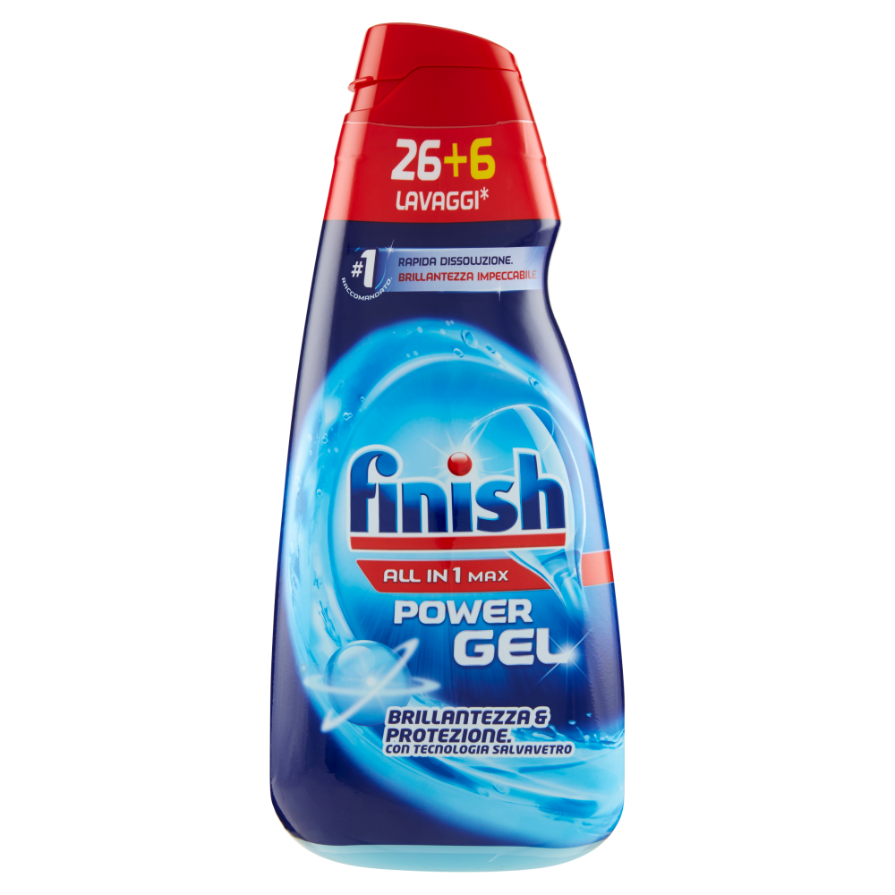Finish All in 1 Max Power Gel Brillantezza & Protezione 32 Lavaggi