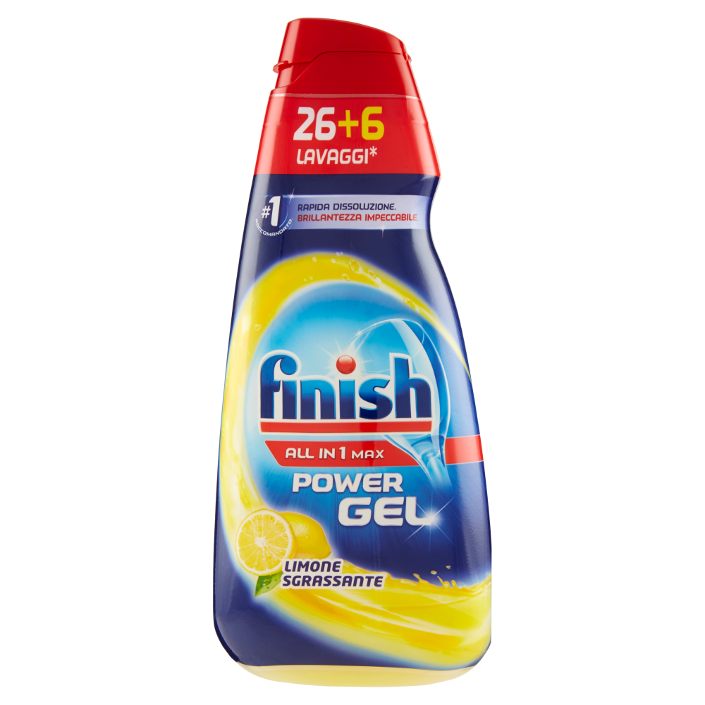Finish Powergel Limone 26 + 6 Lavaggi