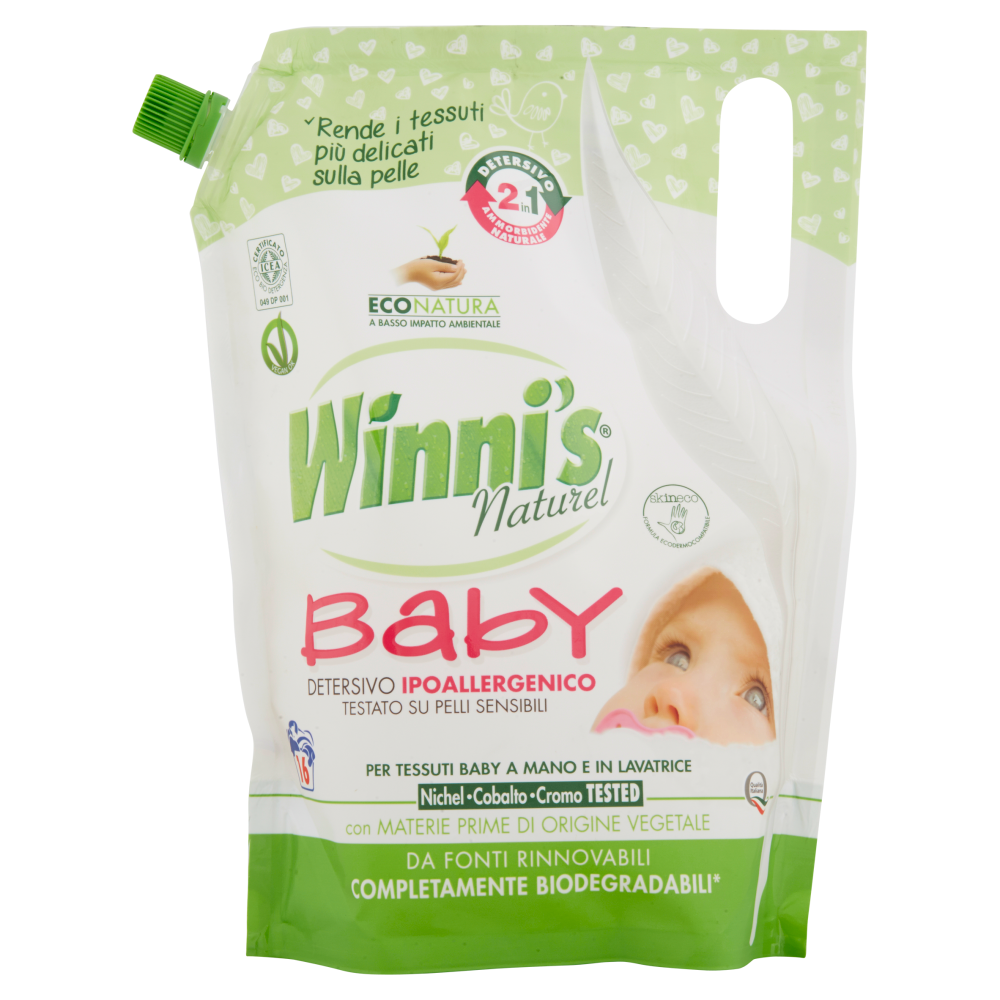 Winni's Baby Detersivo Ipoallergenico Mano e in Lavatrice 800 ml