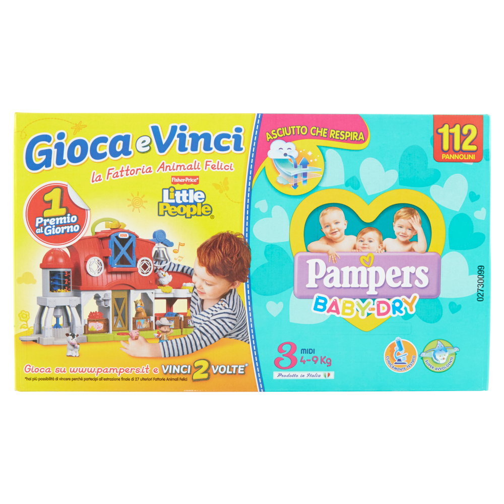 Pampers Baby Dry Midi Quadripacco (4-9 kg) 112 Pannolini